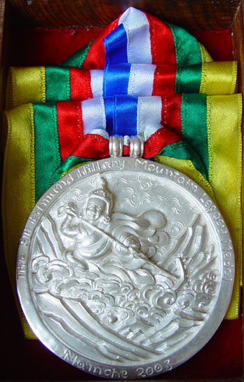 Rajin and son, silversmiths who produce the Hillary Medal