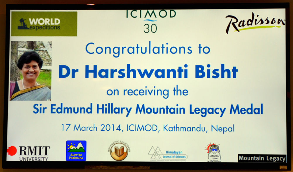 ICIMOD marquee for Hillary Medal presentation